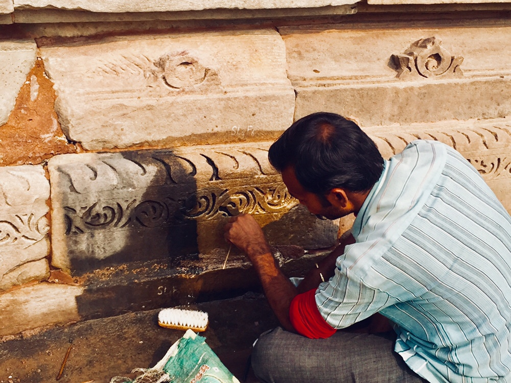 Khajuraho renovation work